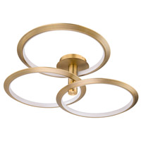 WAC Lighting PD-94940-AB Solaris LED 40 inch Aged Brass Pendant Ceiling Light dweLED