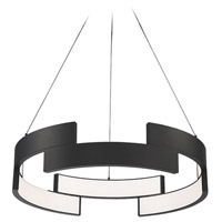 WAC Lighting PD-95820-BK Trap LED 20 inch Black Pendant Ceiling Light
