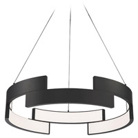 WAC Lighting PD-95827-BK Trap LED 27 inch Black Pendant Ceiling Light