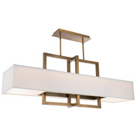WAC Lighting PD-96948-AB Madison LED 48 inch Aged Brass Linear Pendant Ceiling Light dweLED