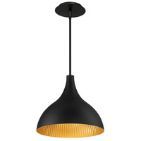 WAC Lighting PD-W55813-BK/GR Copa LED 11 inch Black Gold Ribbed Outdoor Pendant