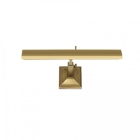 Hemmingway 9.4 watt 15 inch Burnished Brass Picture Light Wall Light in 14in, Portable