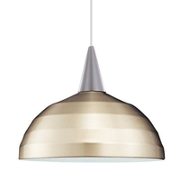 Cosmopolitan 1 Light 12 inch Black Pendant Ceiling Light in 100, Brushed Nickel, Canopy Mount PLD