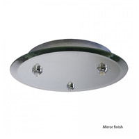 WAC Lighting Surface Mount Canopy Glass Mirror in Mirror QMP-G3RN-MR