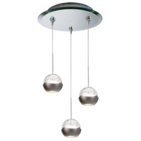 WAC Lighting QMP-LED311/3-MR Cosmopolitan LED 4 inch Mirror Pendant Ceiling Light in 3