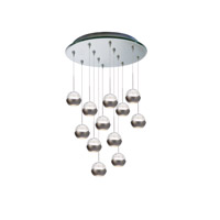 WAC Lighting Genesis 12 Light Pendant in Mirror QMP-LED311/12-MR
