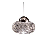 Cosmopolitan LED 4 inch Brushed Nickel Pendant Ceiling Light in Quick Connect