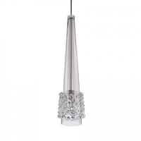 Eternity Jewelry LED 5 inch Chrome Pendant Ceiling Light in White Diamond, Quick Connect