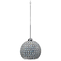 WAC Lighting QP-LED335-CL/CH Cosmopolitan LED 8 inch Chrome Pendant Ceiling Light in Clear (Cosmopolitan), Quick Connect