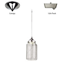 WAC Lighting QP-LED497-CL/CH Early Electric 4 inch Chrome Pendant Ceiling Light in Quick Connect