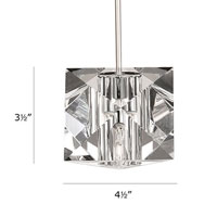 WAC Lighting QP940-CL/BN Cosmopolitan 1 Light 5 inch Brushed Nickel Pendant Ceiling Light in Quick Connect