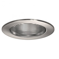 Recessed Lighting PAR20, R20, TRI-TUBE 4-PIN Brushed Nickel Recessed Trim and Socket, IC and Non-IC Installations