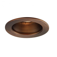 Recessed Lighting PAR20, R20, TRI-TUBE 4-PIN Copper Bronze Recessed Trim and Socket, IC and Non-IC Installations
