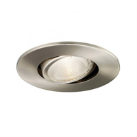 Recessed Lighting PAR20 Brushed Nickel Recessed Trim and Socket Ceiling Light, Residential and Light Commercial