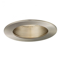 Signature A19, PAR30, R30, TRI-TUBE 4-PIN Brushed Nickel Step Baffle Trim, Residential and Light Commercial