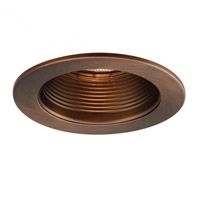 Recessed Lighting A19, PAR30, R30, TRI-TUBE 4-PIN Copper Bronze Recessed Trim and Socket, Residential and Light Commercial