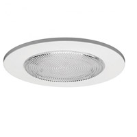 WAC Lighting 5in Shower Trim in White R-522-WT