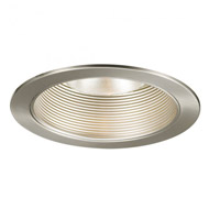 Recessed Lighting PAR30, R30 Brushed Nickel Recessed Trim and Socket, Residential and Light Commercial