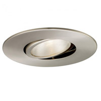 Recessed Lighting PAR38 Brushed Nickel Recessed Trim and Socket Ceiling Light, Residential and Light Commercial