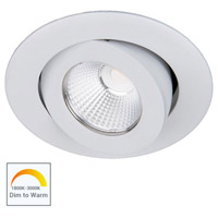 WAC Lighting R3BRA-NWD-WT Oculux Warm Dim LED Module White Recessed Downlights, Round