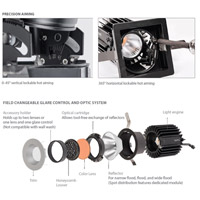 WAC Lighting R2RAT-N835-HZWT Volta LED Module Haze White Recessed Downlights, Round alternative photo thumbnail
