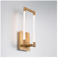 WAC Lighting WS-22018-AB Posh LED 4 inch Aged Brass ADA Wall Sconce Wall Light, dweLED alternative photo thumbnail