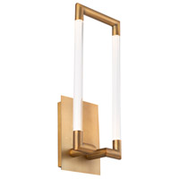 WAC Lighting WS-22018-AB Posh LED 4 inch Aged Brass ADA Wall Sconce Wall Light, dweLED photo thumbnail