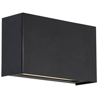 WAC Lighting WS-25612-27-BK-EM Blok LED 4 inch Black ADA Wall Sconce Wall Light, dweLED