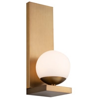WAC Lighting WS-26014-AB Hollywood LED 6 inch Aged Brass Wall Sconce Wall Light dweLED