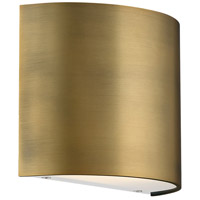 WAC Lighting WS-30907-AB Pocket LED 3 inch Aged Brass ADA Wall Sconce Wall Light, dweLED