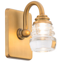 WAC Lighting WS-42505-AB Rondelle LED 6 inch Aged Brass Wall Sconce Wall Light in 5in dweLED