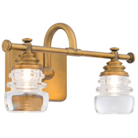 WAC Lighting WS-42514-AB Rondelle LED 6 inch Aged Brass Wall Sconce Wall Light in 14in dweLED