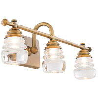 WAC Lighting WS-42524-AB Rondelle LED 6 inch Aged Brass Wall Sconce Wall Light in 24in dweLED