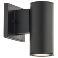WAC Lighting WS-W190208-30-BK Cylinder LED 1 inch Black Wall Sconce Wall Light