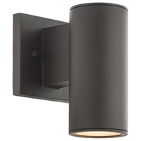 WAC Lighting WS-W190208-30-BZ Cylinder LED 1 inch Bronze Wall Sconce Wall Light