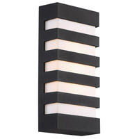 WAC Lighting WS-W23614-BK Folsom LED 14 inch Black Outdoor Wall Sconce, dweLED