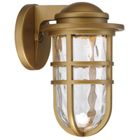 Aged Brass Aluminum Outdoor Wall Lights