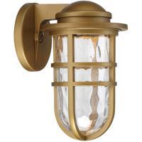 WAC Lighting WS-W24509-AB Folsom LED 10 inch Aged Brass Outdoor Wall Sconce dweLED