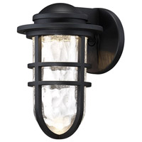WAC Lighting WS-W24509-BK Steampunk LED 7 inch Black Wall Light in 9in dweLED