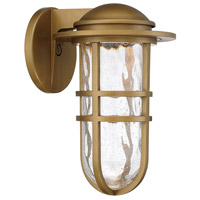WAC Lighting WS-W24513-AB Steampunk LED 13 inch Aged Brass Outdoor Wall Sconce dweLED