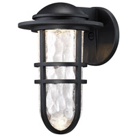 WAC Lighting WS-W24513-BK Steampunk LED 8 inch Black Wall Light