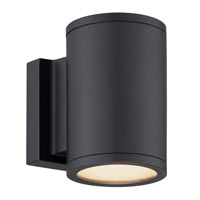 WAC Lighting Tube LED Double Side Outdoor Wall Mount in Black WS-W2604-BK