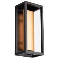 WAC Lighting WS-W39012-BK/AB Hathaway LED 5 inch Black with Aged Brass Wall Sconce Wall Light dweLED