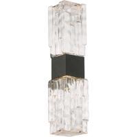 WAC Lighting WS-W41018-BK Nord LED 5 inch Black Wall Sconce Wall Light dweLED