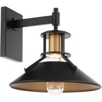 WAC Lighting WS-W43015-BK/AB Sleepless LED 15 inch Black with Aged Brass Wall Sconce Wall Light dweLED