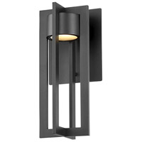 WAC Lighting WS-W48612-BK Chamber LED 6 inch Black Wall Light