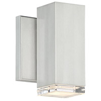 WAC Lighting WS-W61806-AL Block LED 5 inch Brushed Aluminum Wall Light