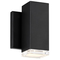 WAC Lighting WS-W61806-BK Block LED 5 inch Black Wall Light