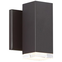WAC Lighting WS-W61806-BZ Block LED 6 inch Bronze Outdoor Wall Sconce, dweLED