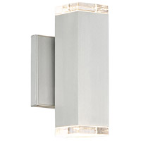 WAC Lighting WS-W61808-AL Block LED 5 inch Brushed Aluminum Wall Light